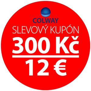 Slevový kupón 300 Kč - 12 EUR